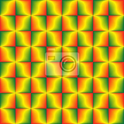 Grünes gelbes Rot mischte geometrisches nahtloses Muster.