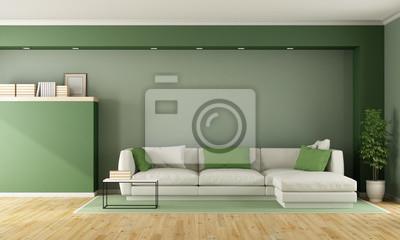 Bild Grünes Modernes Wohnzimmer