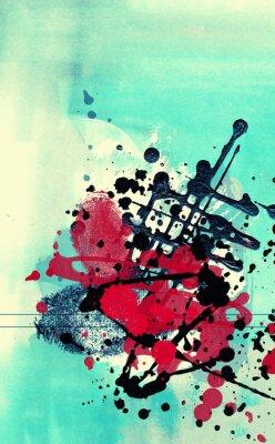 Bild Grunge Collage, Aquarell-Stil, große Hintergrund oder Textur