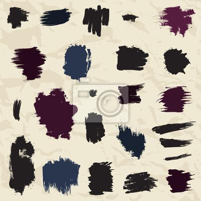 Bild Grunge gemalt Pinselstriche. Design-Elemente.