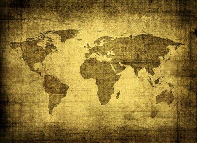 Bild Grunge-Karte der Welt