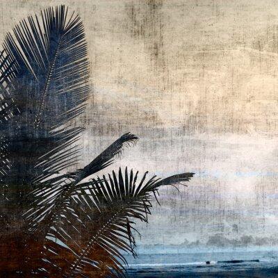 Bild Grunge palm-2