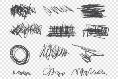 Bild Grunge scribbles vector illustrations set