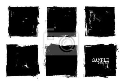 Bild Grunge style set of square shapes . Vector