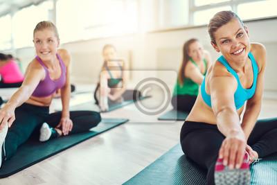 Gruppe von gesunden Frauen in einer Fitness-Klasse
