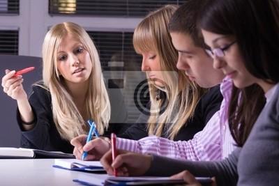 Gruppe von Menschen in Business-School, selektiven Fokus