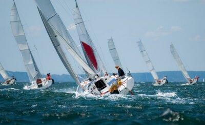 Bild Gruppe von Yacht Segeln bei Regatten