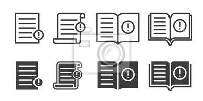 Bild Guide booklet and user guidance reference icons. Vector book or information document web icons