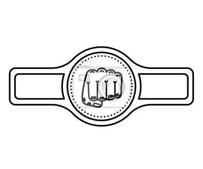Gürtel-Boxen isoliert Symbol Design, Vektor-Illustration Grafik