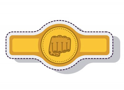 Gürtel-Boxen isoliert Symbol Vektor-Illustration-Design