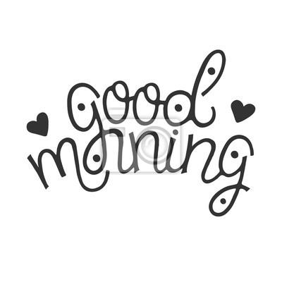 Guten Morgen Abstrakte Hand Gezeichnete Monoline