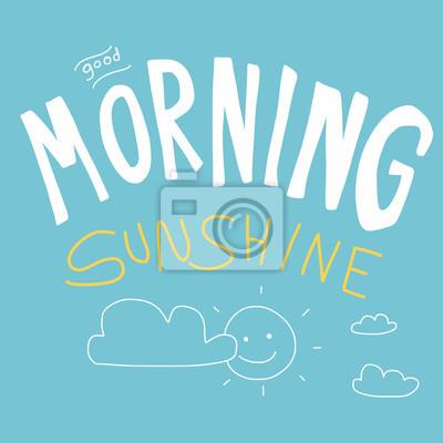 Guten Morgen Sonnenschein Vektor Illustration Kind Zeichnung