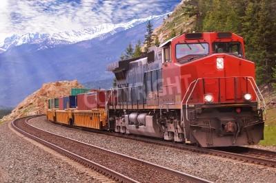 Bild Güterzug in kanadischen Rockies
