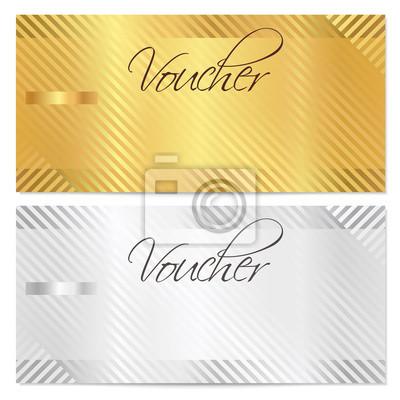 Gutschein, geschenkgutschein, gutschein-vorlage. gold streifen ...