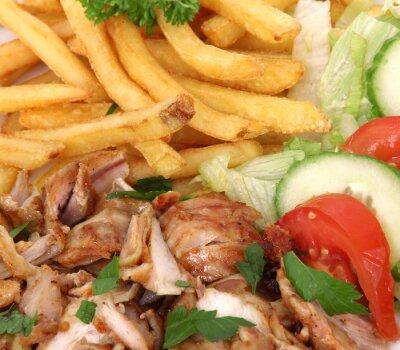 Gyros mit französisch frites und Salat