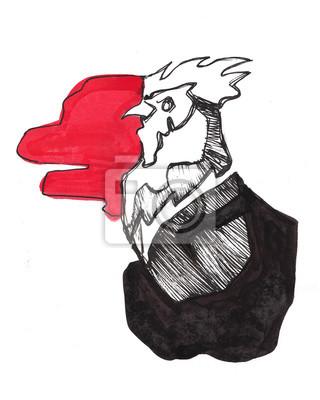 Großer schwarzer Hahnkopf S xxx