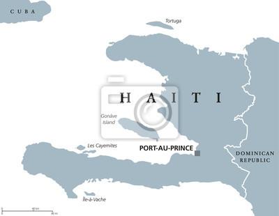 Haiti Karte.Bild Haiti Politische Karte Mit Hauptstadt Port Au Prince Karibische