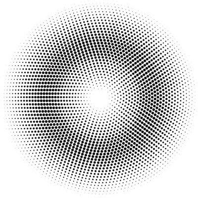 Bild Halbton-Kreis.