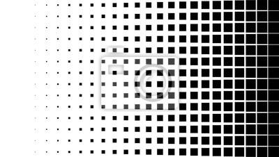 Bild Halbtonmusterhintergrund, quadratische Punktformen, Weinlese oder Retro Grafik mit Platz für Ihren Text. Halbton-Digital-Effekt.