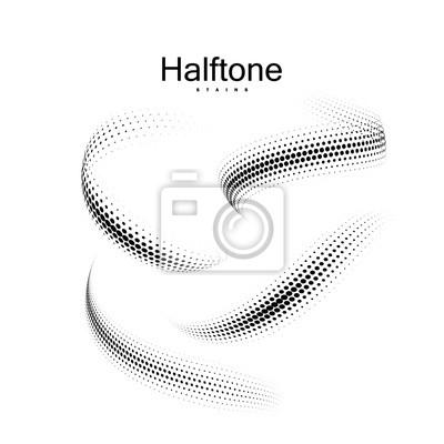 Bild Halfton 3d Formen Sammlung.