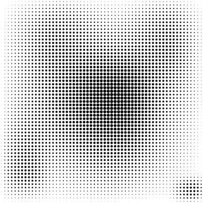Bild Halftone dots  background  black and white stylish