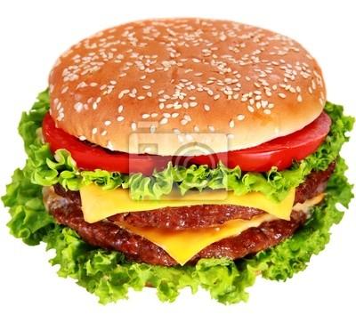 hamburger isoliert auf weiß