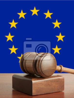 Hammer und Flagge Europas