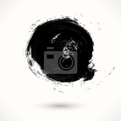 Bild Hand bemalt schwarzen Fleck auf weißem Hintergrund.
