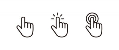 Bild Hand Cursor icon set, Click icon vector