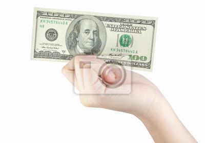 Bild Hand, die Geld-Dollar
