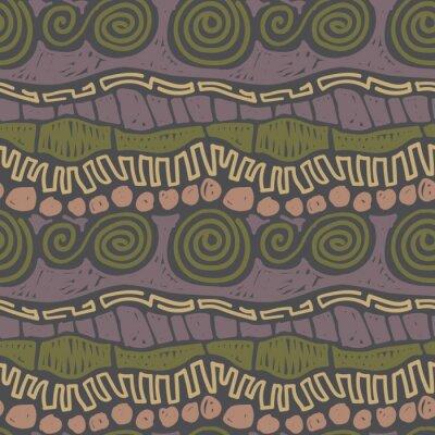 Bild Hand drawn cute seamless pattern, colourful vector background. Trendy inca wallpaper design. Primitive rural template for textile print.