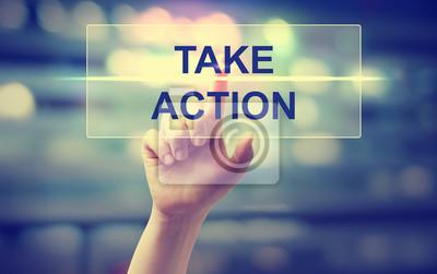 Bild Hand drücken Take Action