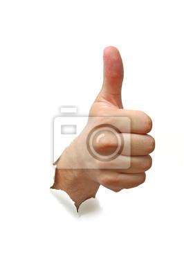 Bild Hand Erfolg Zeichen