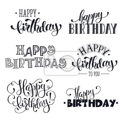 Bild Hand Geschrieben Alles Gute Zum Geburtstag Phrasen Grußkarte