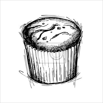 Hand Gezeichnet Vektor Illustration Susse Kuchen Mit Schokolade
