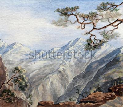 Bild Hand gezeichnete Skizze mit Bergen