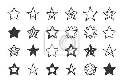 Bild Hand gezeichnete Sterne