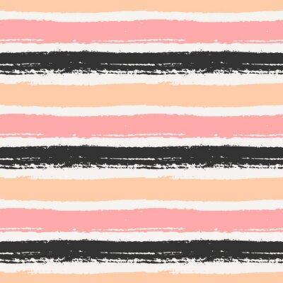 Bild Hand gezeichnetes nahtloses Muster Striped