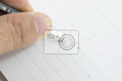 Bild Hand mit Radiergummi