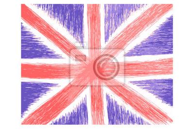 Hand Zeichnen Skizze Englische Flagge Leinwandbilder Bilder Wales