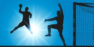 Handball - Hand - Handballer - tir - aber - marquer - ballon - sport - sportif - tequipé - terrain
