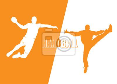 Handball-Spieler - Vektor-Illustration