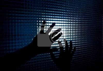 Hände und Fenster