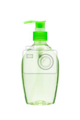 Händedesinfektionsmittel Flasche mit einem Pumpspender isoliert auf weiß ba