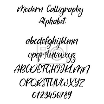 Handgeschriebene Pinsel Buchstaben Abc Moderne Kalligraphie