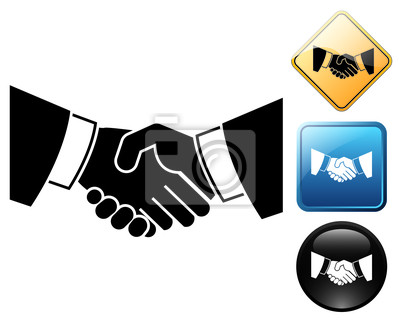 Handshake Piktogramm und Schilder