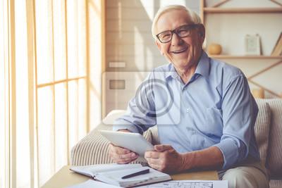 Bild Handsome old man at home