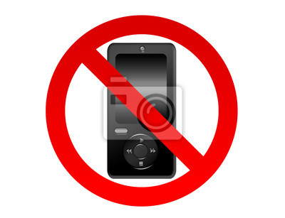Bild Handy verboten Schild