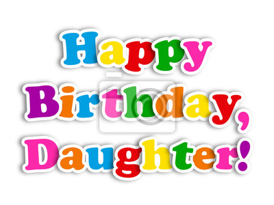 Bild HAPPY BIRTHDAY DAUGHTER Card Party Message Congratulations