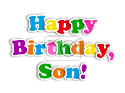 Bild HAPPY BIRTHDAY SON Card Party Message Congratulations